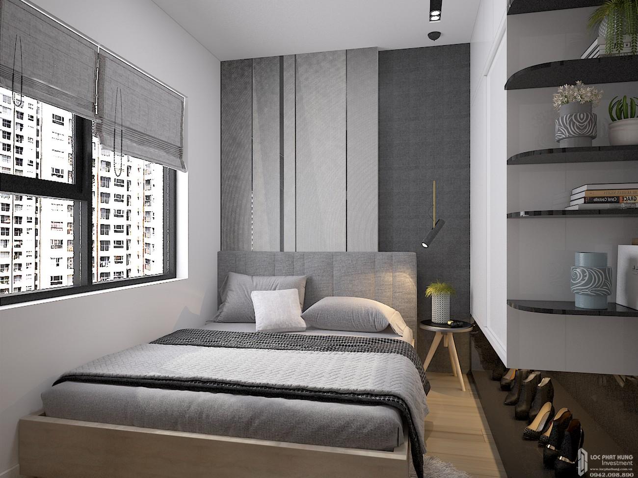 Phòng ngủ căn hộ chung cư Bcons Plaza Dĩ An Đường Thống