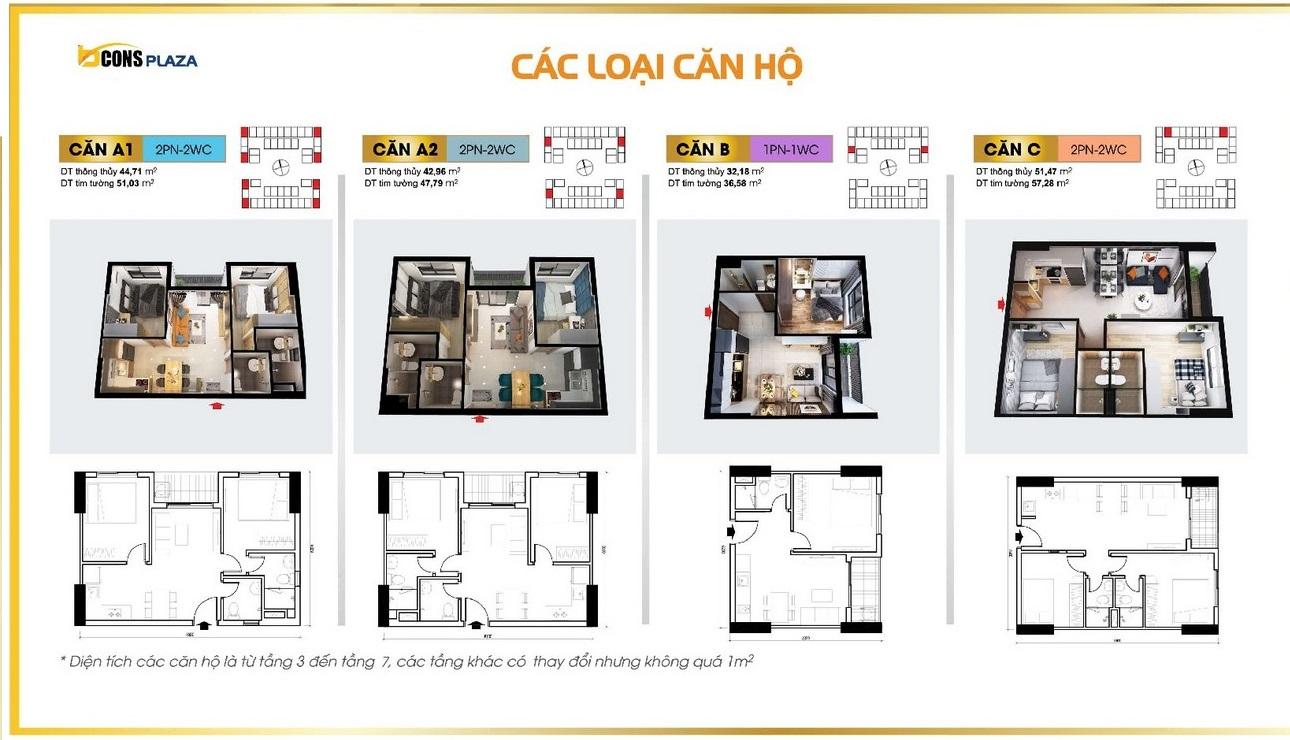 Thiết kế dự án căn hộ chung cư Bcons Plaza Dĩ An Đường Thống Nhất chủ đầu tư Bcons