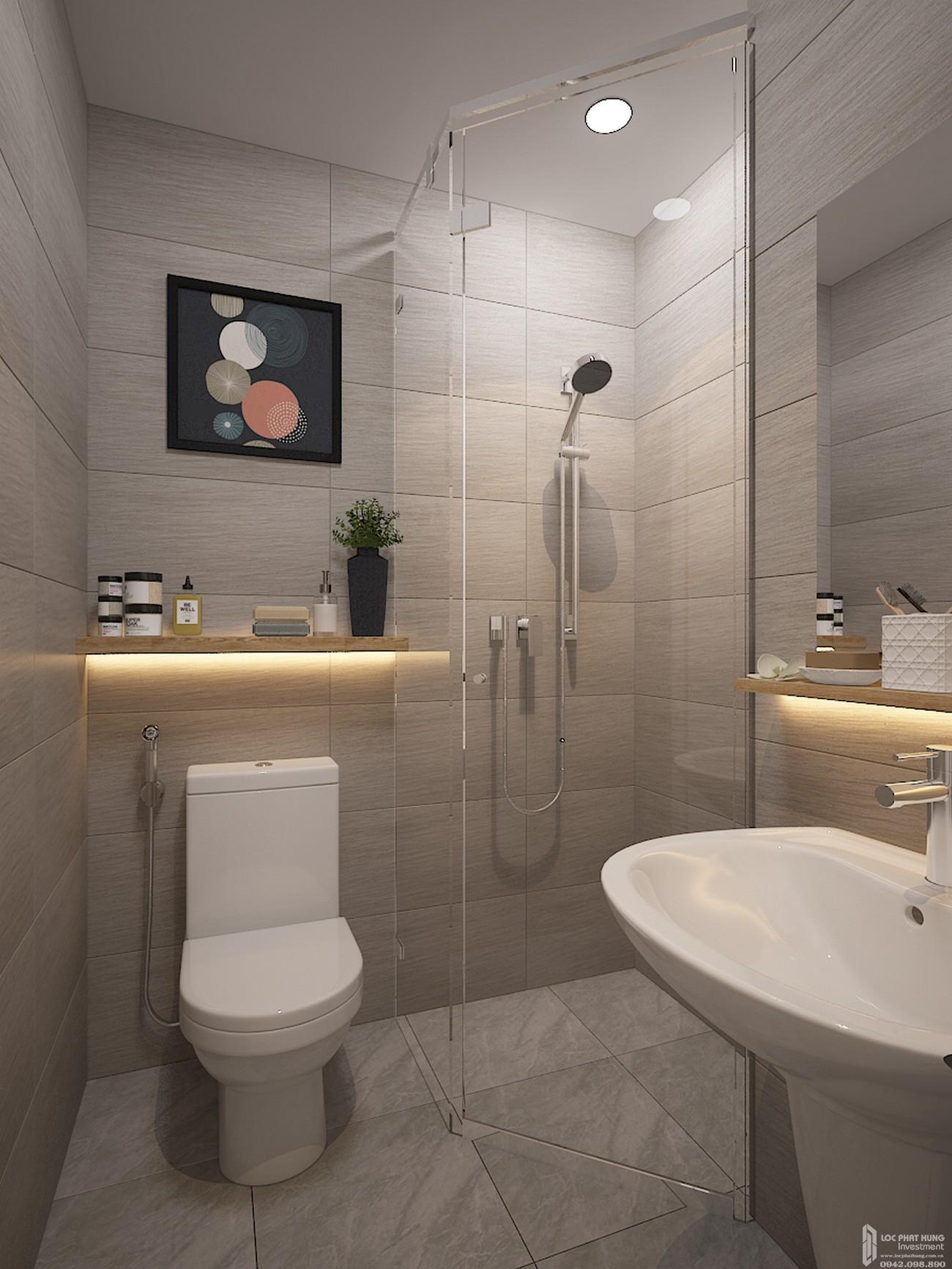 Toilet căn 1-D1 căn hộ chung cư Bcons Plaza Dĩ An Đường Thống Nhất chủ đầu tư Bcons