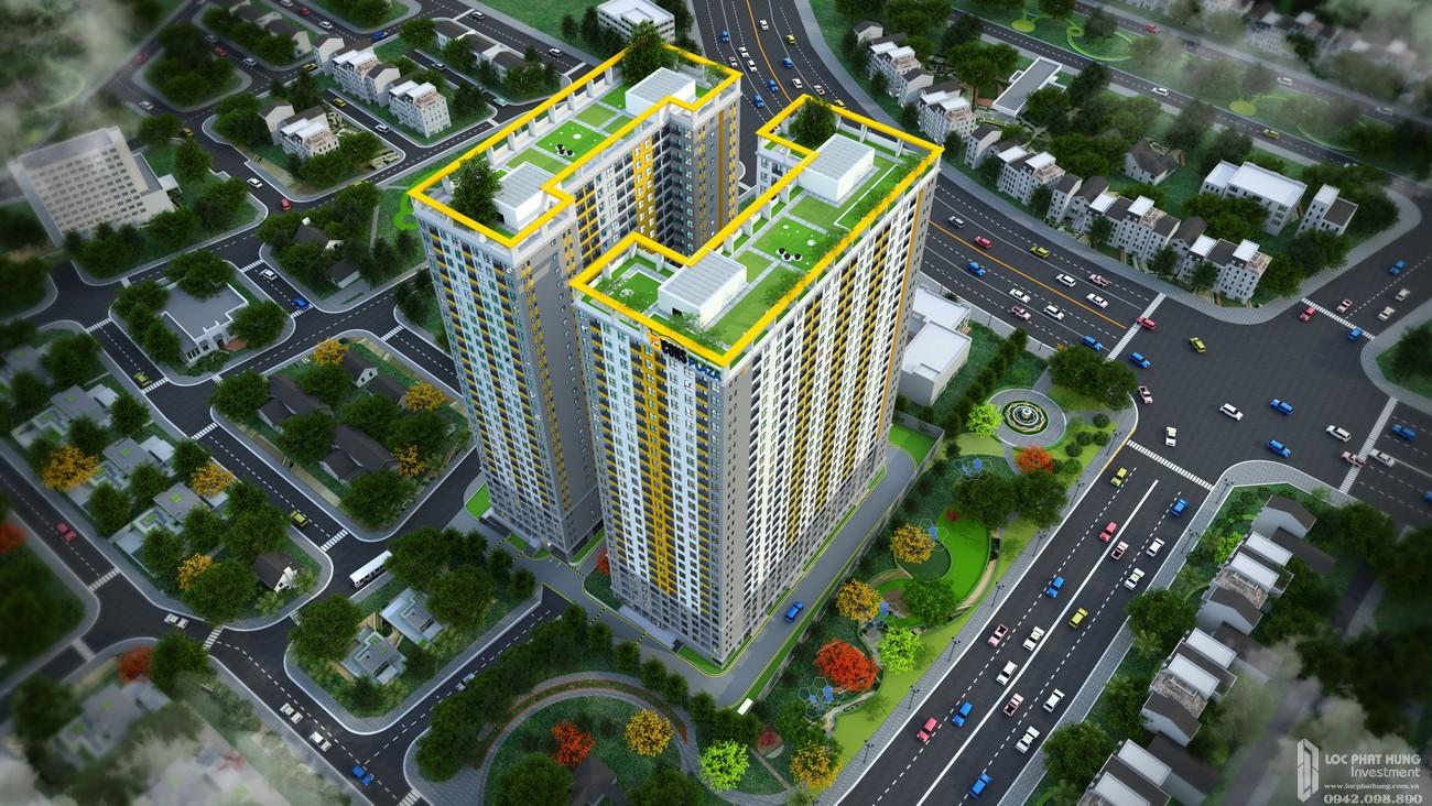 Phối cảnh tổng thể dự án căn hộ chung cư Bcons Plaza Dĩ An