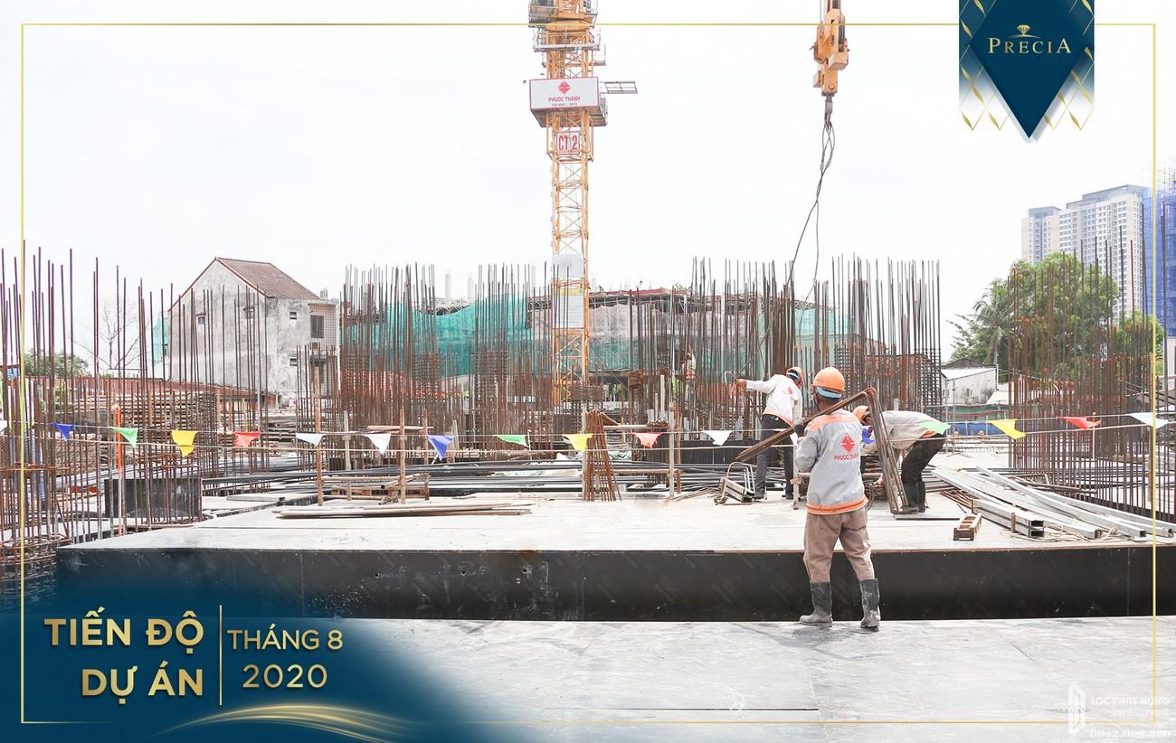 Tiến độ dự án căn hộ chung cư Precia Quận 2 tháng 8/202 Đường Nguyễn Thị Định chủ đầu tư Minh Thông