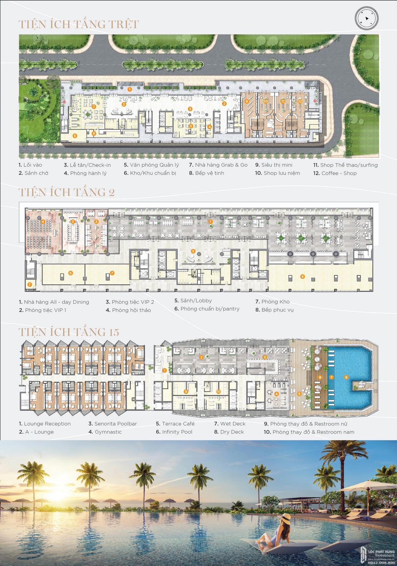 Mặt bằng dự án biệt thự biển condotel The Maris chủ đầu tư Trùng Dương Corp