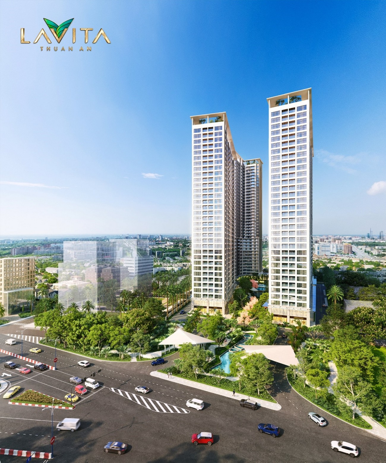 Phối cảnh tổng thể dự án căn hộ Lavita Hưng Thịnh Thuận An Bình Dương