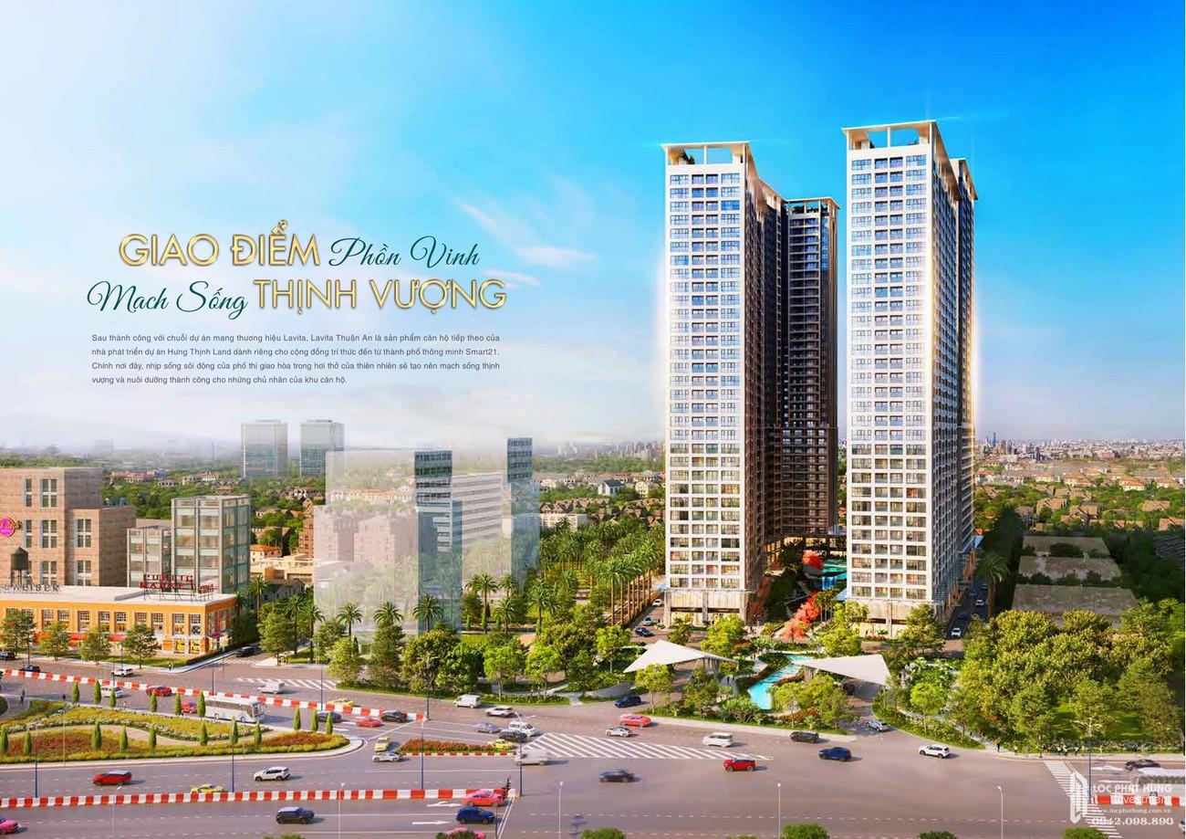 Phối cảnh tổng thể dự án căn hộ chung cư Lavita Thuận An Bình Dương