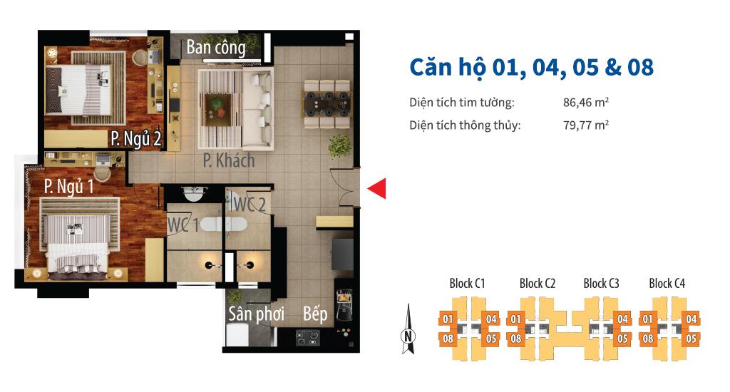 Thiết kế dự án căn hộ chung cư Central Premium Quận 8 Đường Tạ Quang Bửu chủ đầu tư Giai Việt