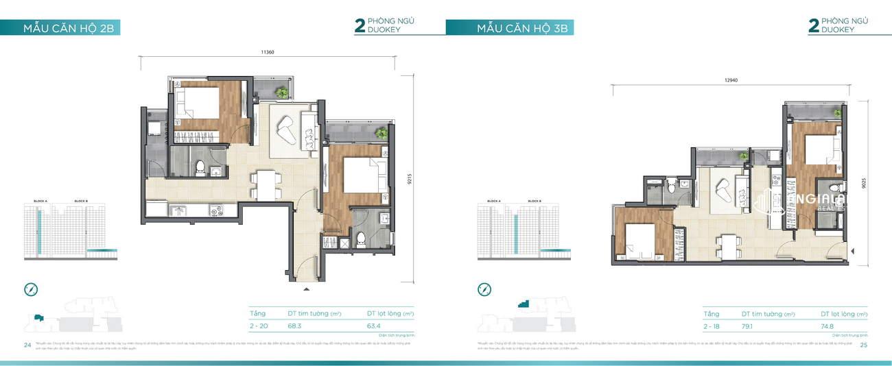 Thiết kế căn hộ 69m² - 79m² Dlusso Quận 2