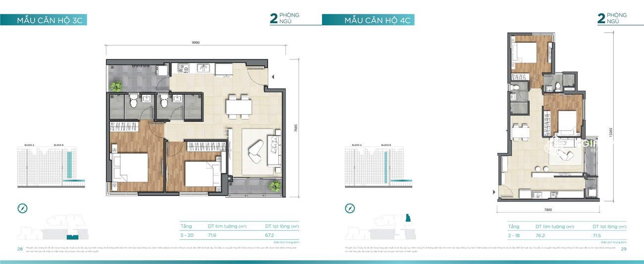 Thiết kế căn hộ 71m² Dlusso Quận 2