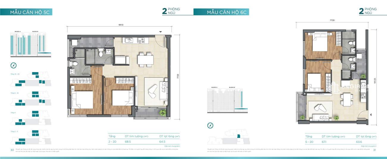 Thiết kế căn hộ 67m² Dlusso Quận 2