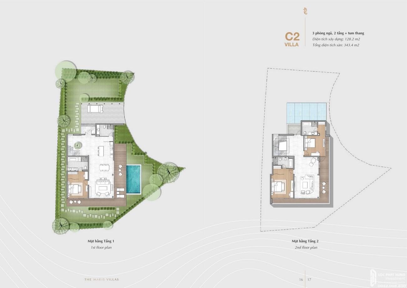 Thiết kế dự án biệt thự biển condotel The Maris chủ đầu tư Trùng Dương Corp