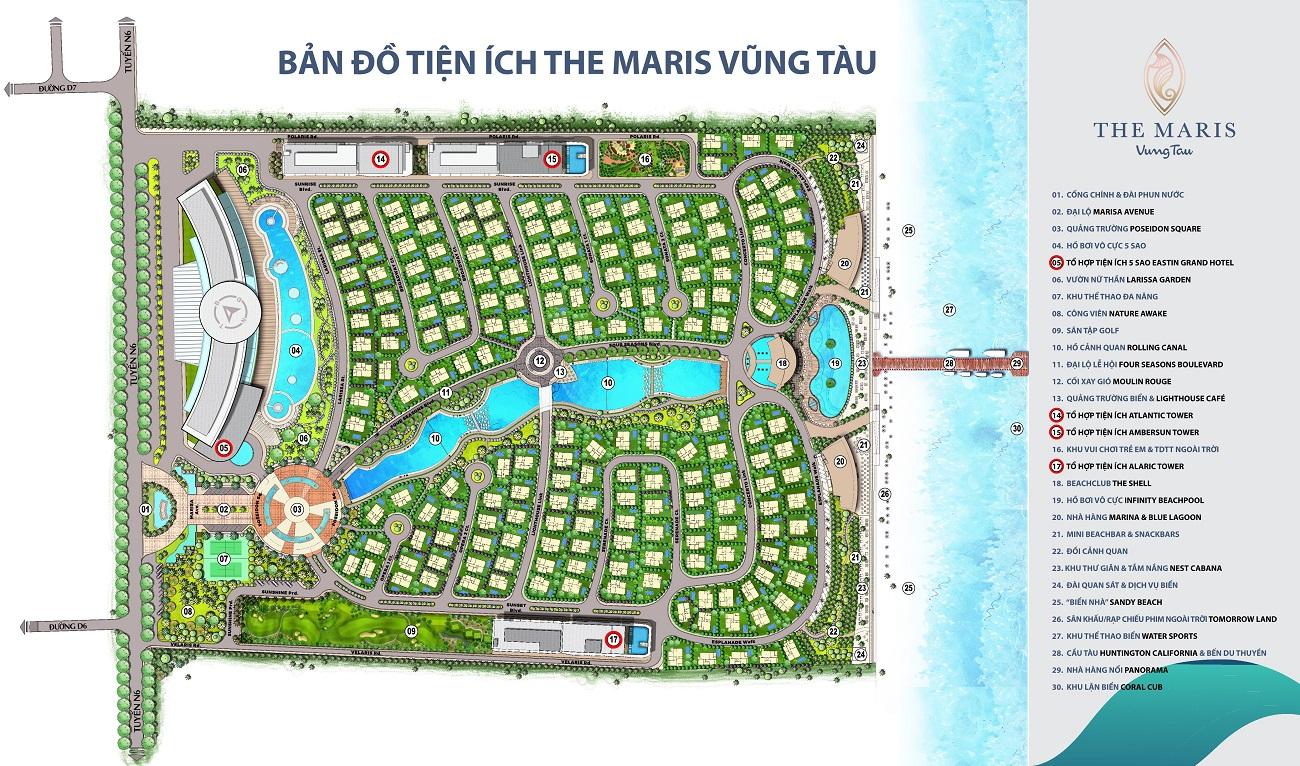 Tiện ích dự án condotel The Maris chủ đầu tư Trùng Dương Corp