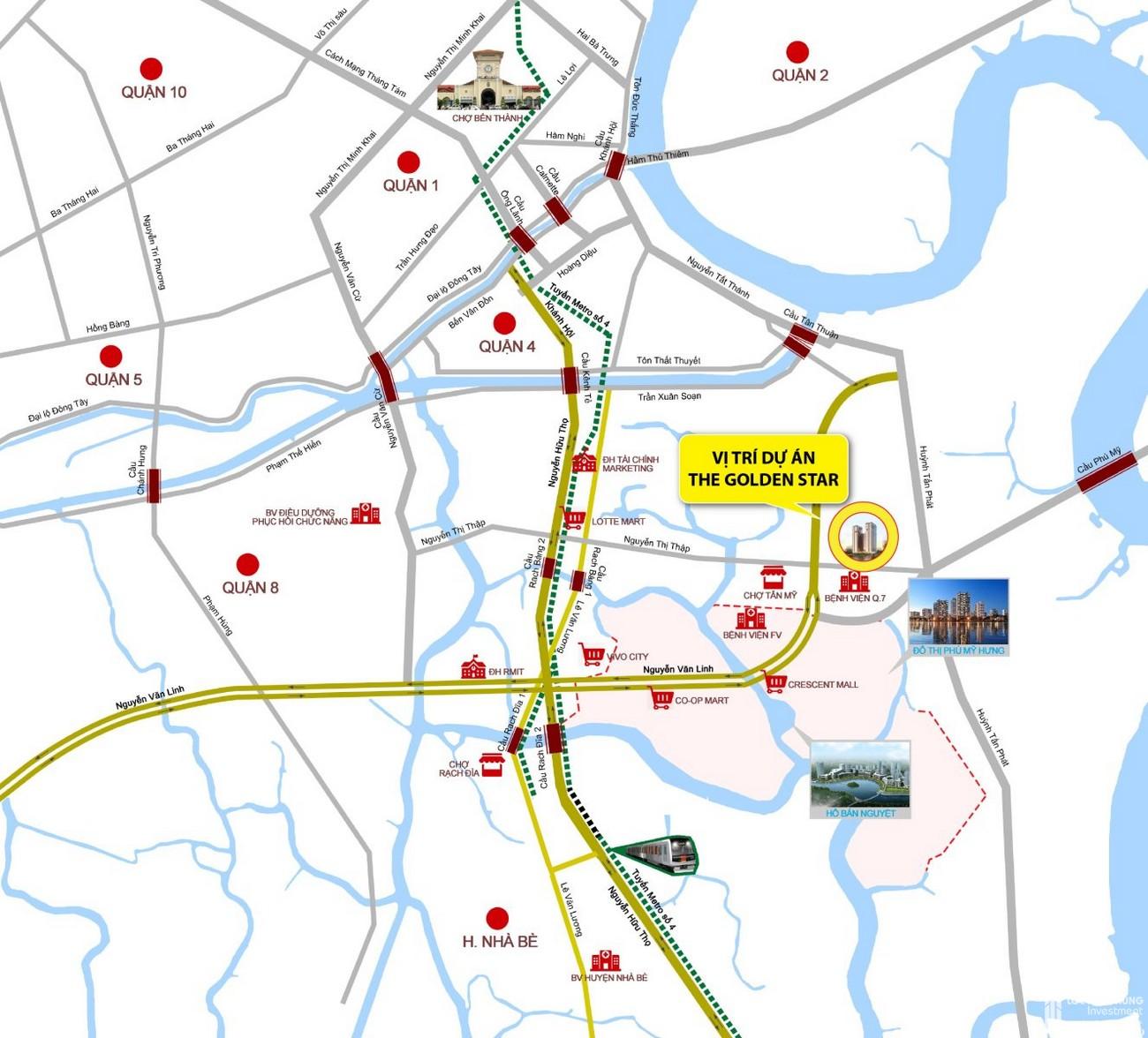 Mua bán cho thuê dự án căn hộ chung cư The Golden Star Quận 7 Đường Nguyễn Thị Thập chủ đầu tư Hưng Lộc Phát