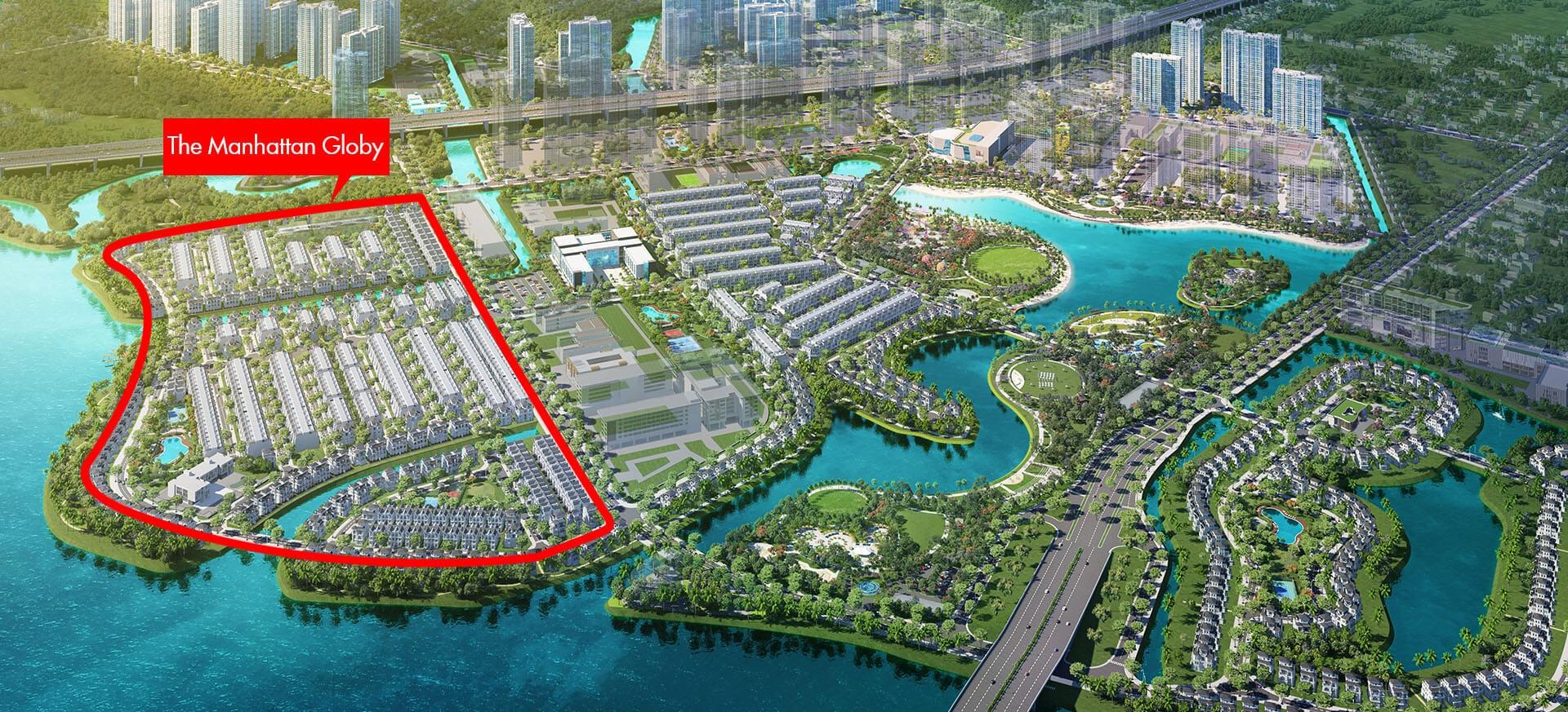 Vị trí địa chỉ dự án nhà phố The Manhaattan Glory Quận 9 Đường Nguyễn Xiển chủ đầu tư Vingroup