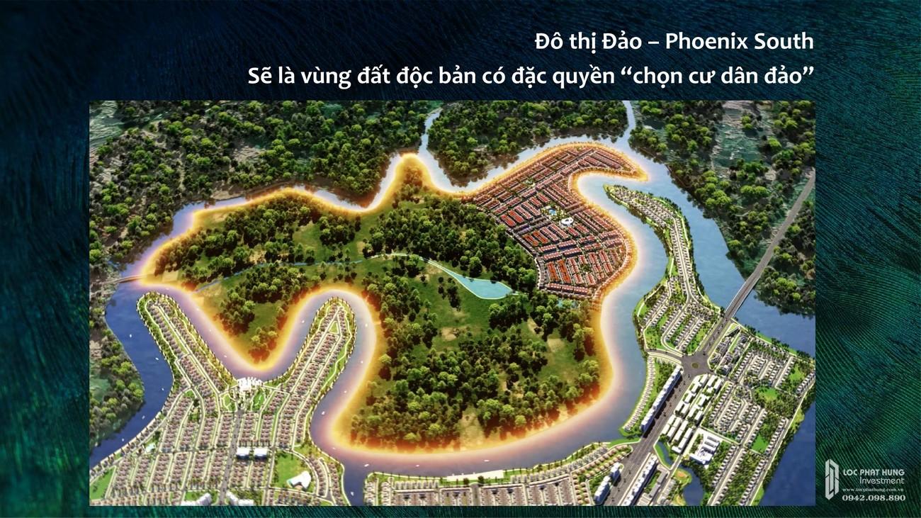 """Mặt tiền Phối cảnh dự án Aqua City The Phoenix South - Đặc quyền chọn cư dân """"đảo""""đường Nam Cao, xã Long Hưng, TP.Biên Hoà, tỉnh Đồng Nai"""