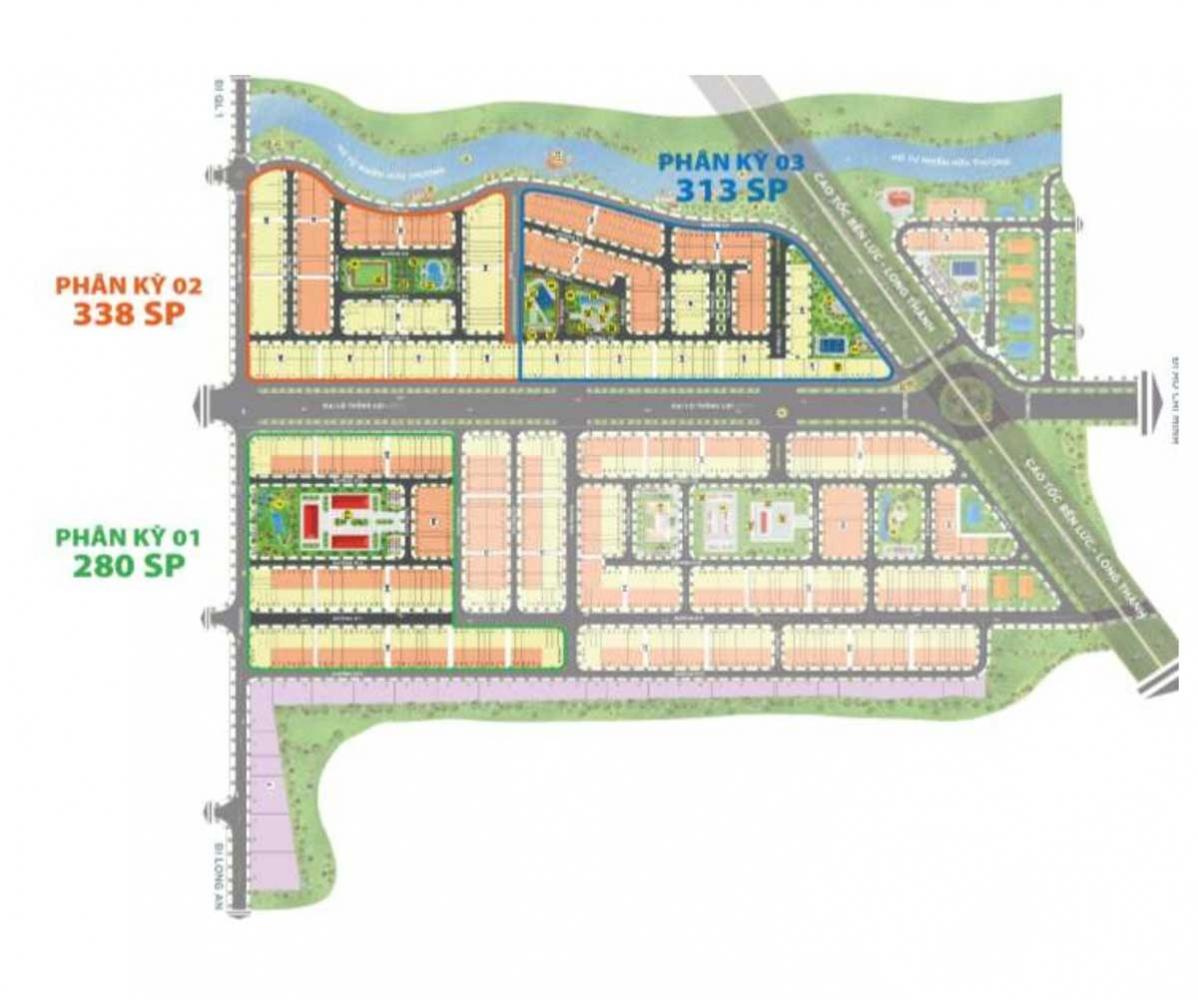 Mặt bằng phân lô Dự án Khu đô thị The Sol City Nam Sài Gòn