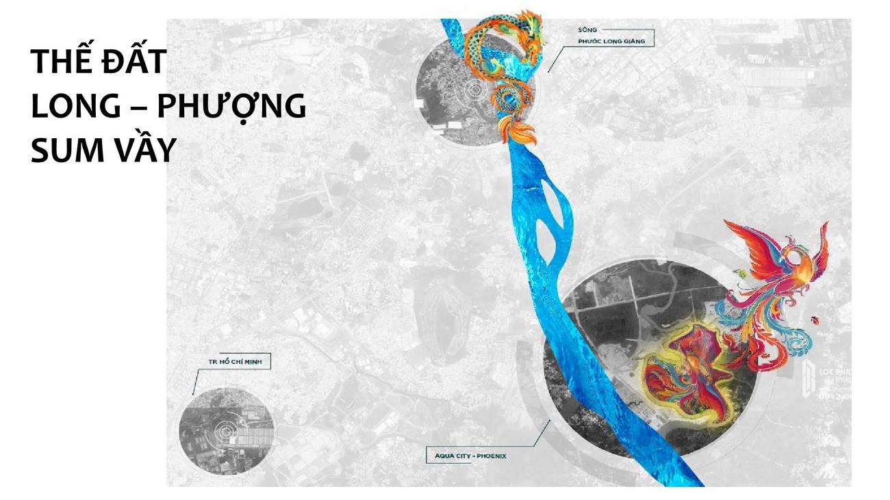 Cảm hứng thiết kế đầu là bầu trời và mắt là mặt trời của dự án Aqua City The Phoenix South