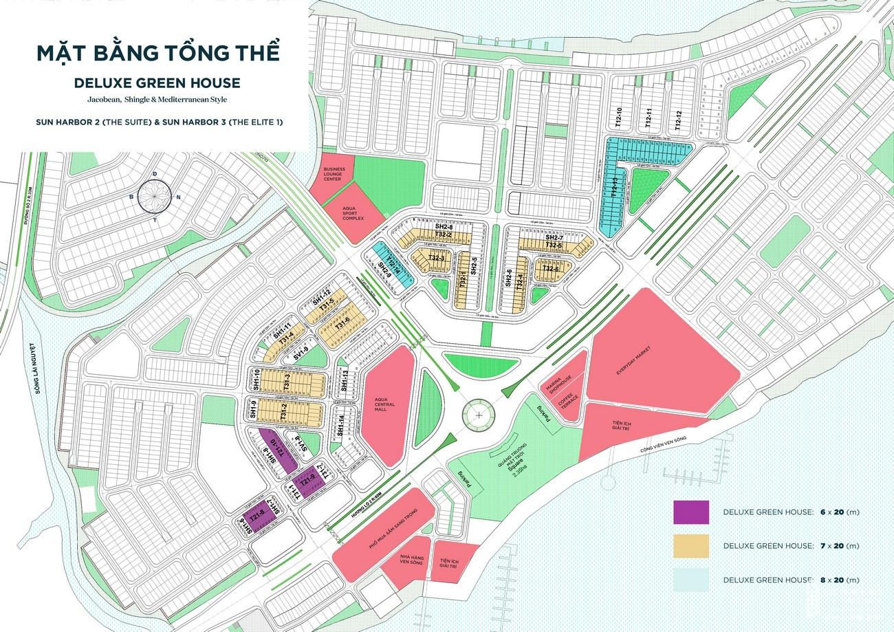 Mặt bằng tổng thể dự án Aqua City The Elite nhà phát triển Novaland