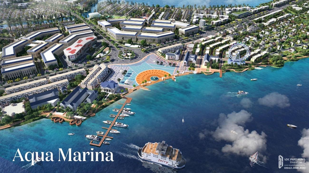 Phối cảnh tổng thể Aqua Marina của dự án Aqua City