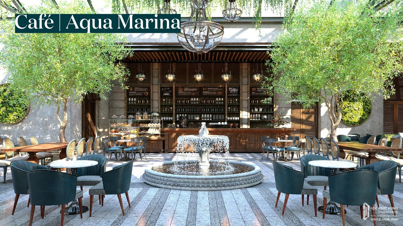 Cafe Aqua Marina | Nơi đắm chìm trong không gian thoáng đãng thư giãn tại dự án Aqua City