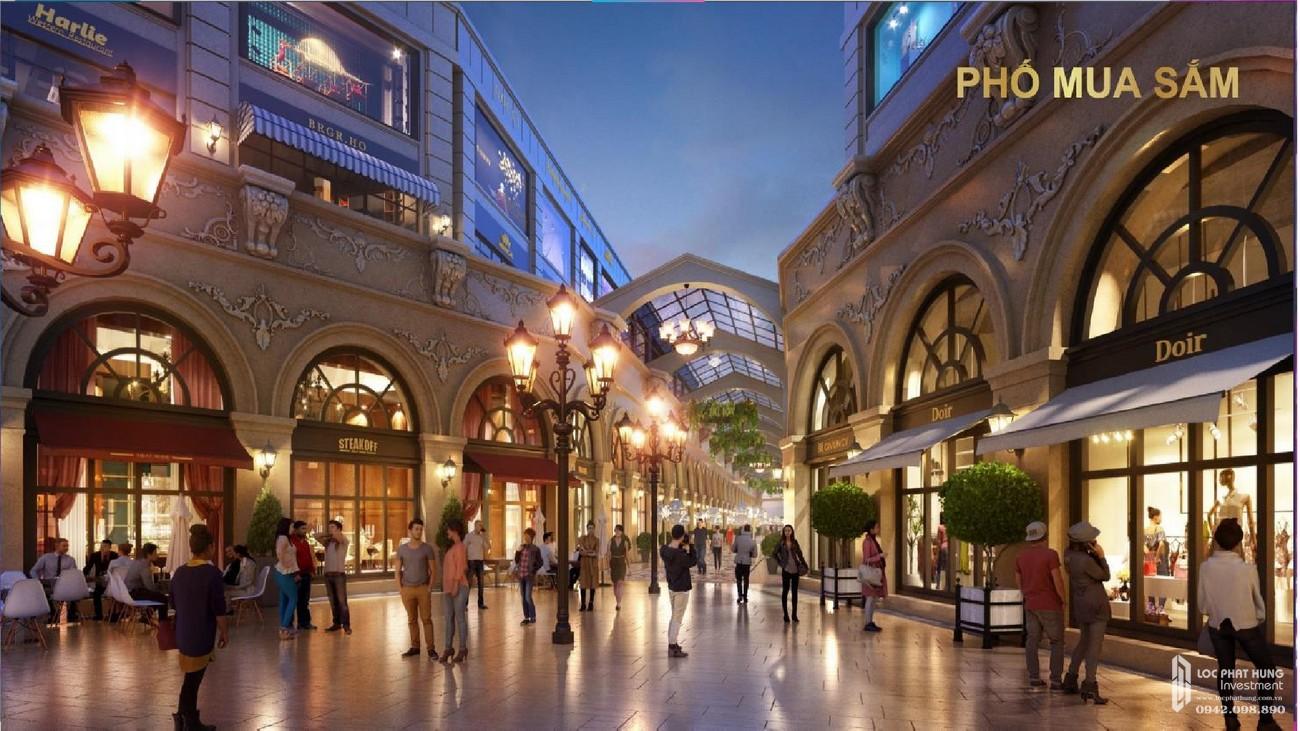 Phố mua sắm đẹp như mơ của dự án nhà phố Aqua City