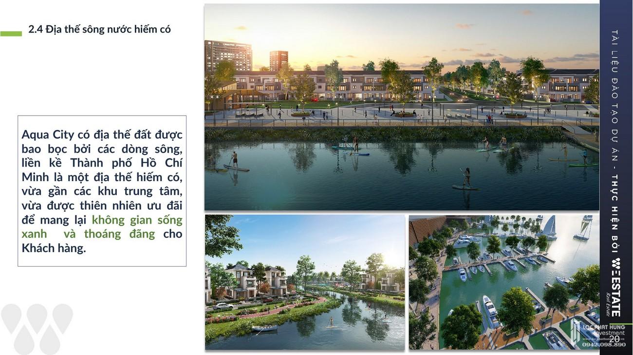 Địa thế sông nước hiếm có mang lại không gian sống xanh và thoáng đãng cho cư dân