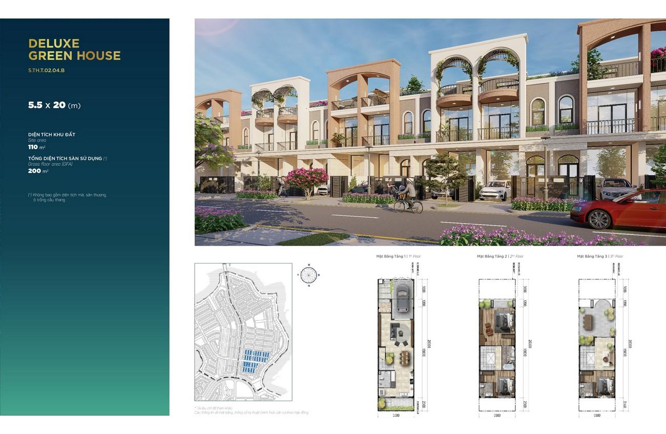 Thiết kế chi tiết nhà mẫu khu 5 của Phoenix South Aqua City nhà phát triển Novaland