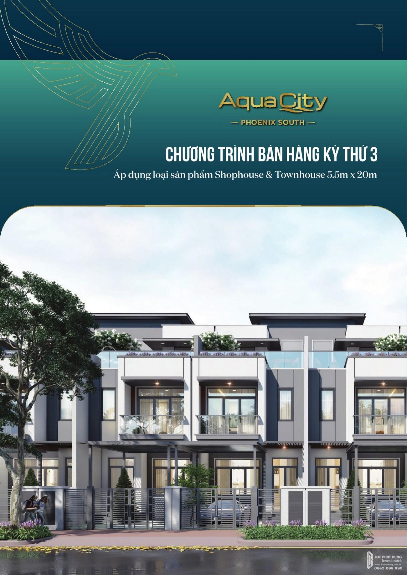 Chương trình bán hàng dự án nhà phố Aqua City The Phoenix South