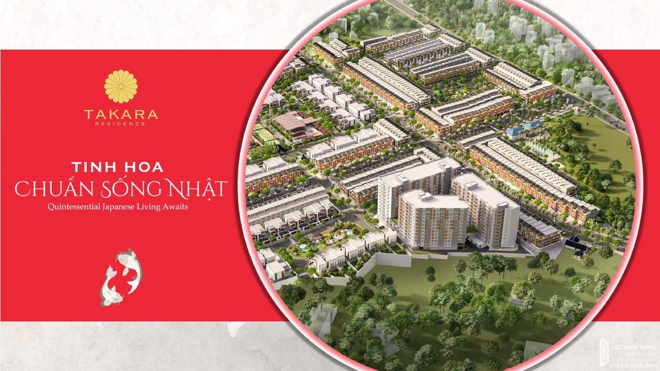 Phối cảnh tổng thể dự án nhà phố Takara Residence Thủ Dầu Một Chánh Nghĩa chủ đầu tư Thành Nguyên