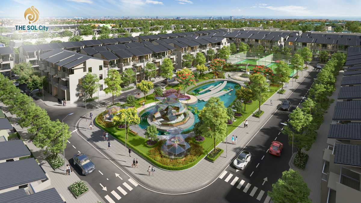 Tiện ích Khu công viên nội khu Dự án The Sol City chủ đầu tư Thắng Lợi