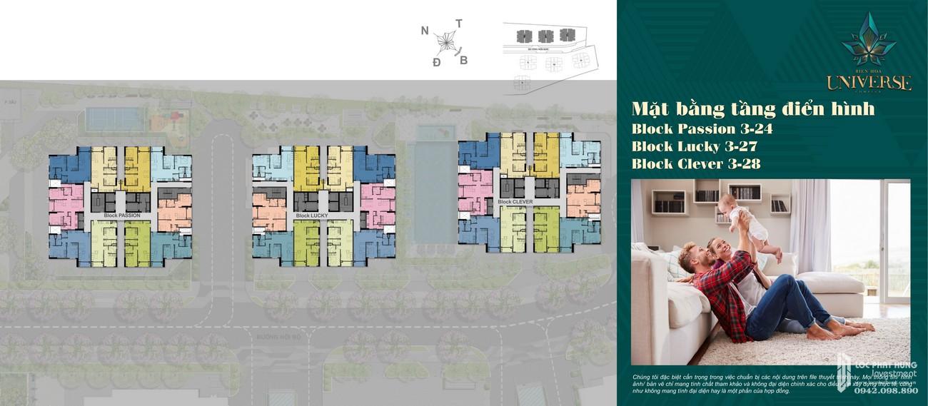 Mặt bằng dự án căn hộ chung cư Biên Hoà Universe Complex Đường Xa lộ Hà Nội chủ đầu tư Hưng Thịnh