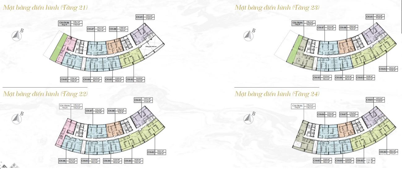 Mặt bằng dự án căn hộ chung cư Sunshine Diamond River Quận 7 Đường Đào Trí chủ đầu tư Sunshine Group