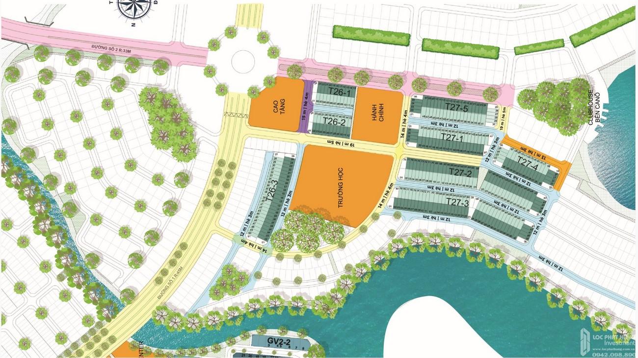 Mặt bằng dự án Aqua City The Elite nhà phố Biên Hòa Đường Long Hưng chủ đầu tư Novaland