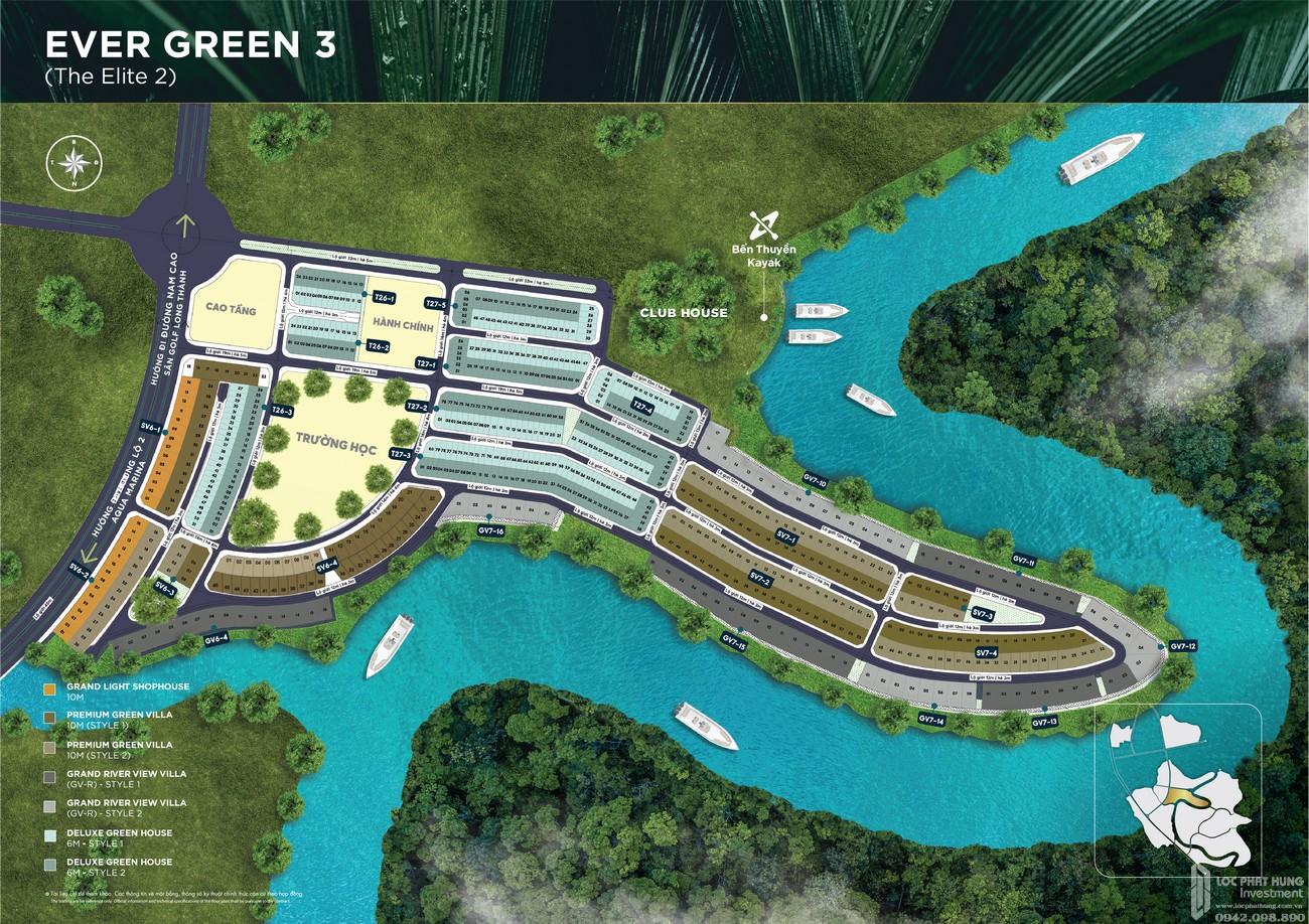 Mặt bằng phân khu The Elite 2 dự án Aqua City The Elite nhà phố Biên Hòa Đường Long Hưng nhà phát triển Novaland