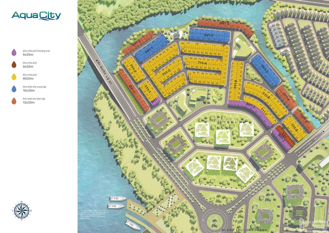 Mặt bằng Aqua City phân khu The Suite