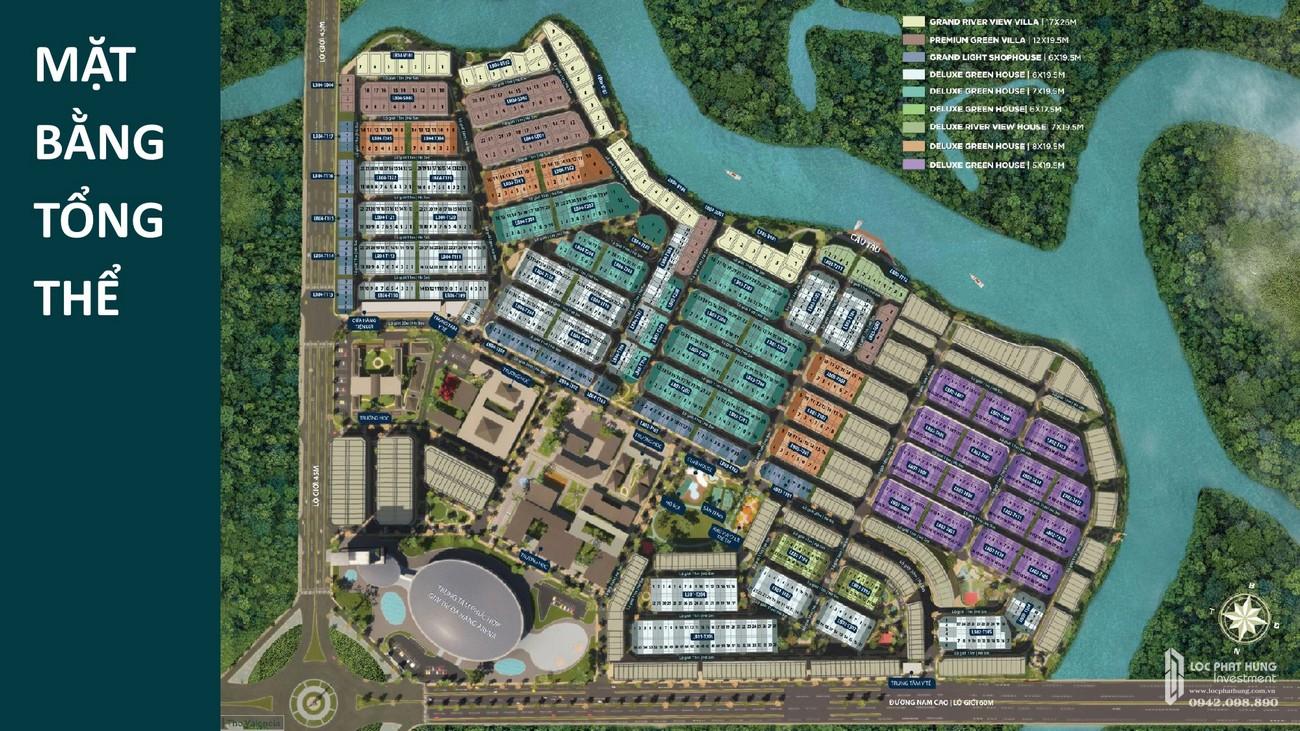 Mặt bằng dự án Nhà Phố Aqua City The River Park 2 Biên Hòa Đường Quốc lộ 51 nhà phát triển Novaland