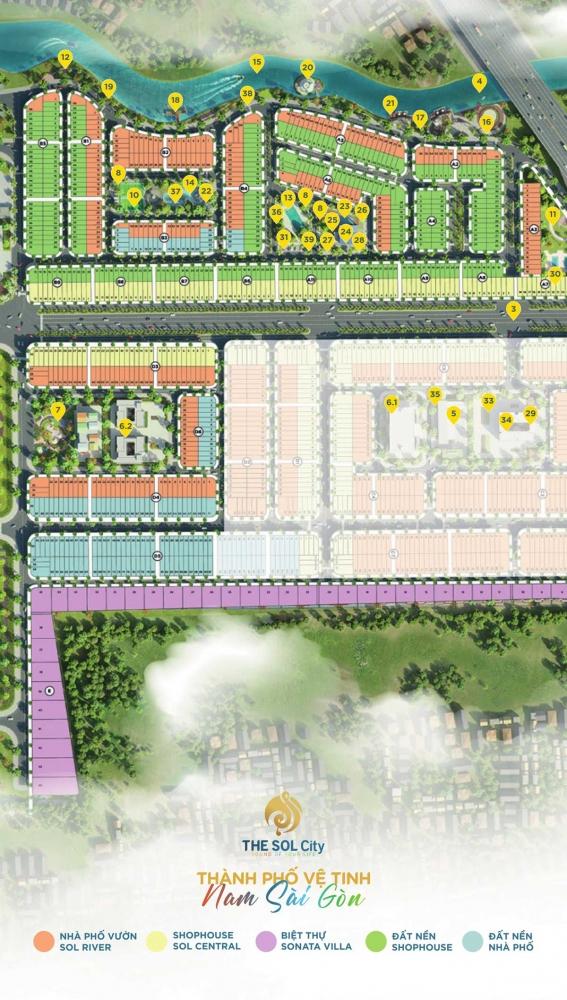 Mặt bằng Phân lô Dự án The Sol City chủ đầu tư Thắng Lợi