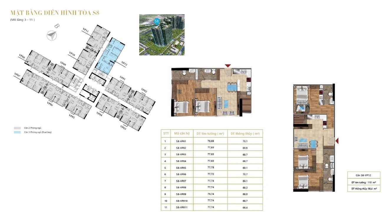 Mặt bằng dự án căn hộ chung cư Sunshine City Sài Gòn Quận 7 Đường Phú Thuận chủ đầu tư Sunshine Group