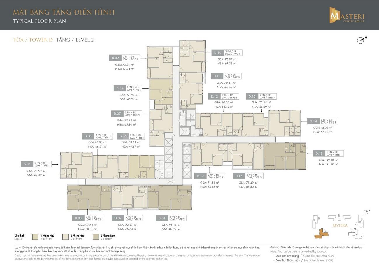 Mặt bằng dự án căn hộ chung cư Masteri Centre Point Quận 9 Đường Nguyễn Xiển chủ đầu tư Masterise Homes