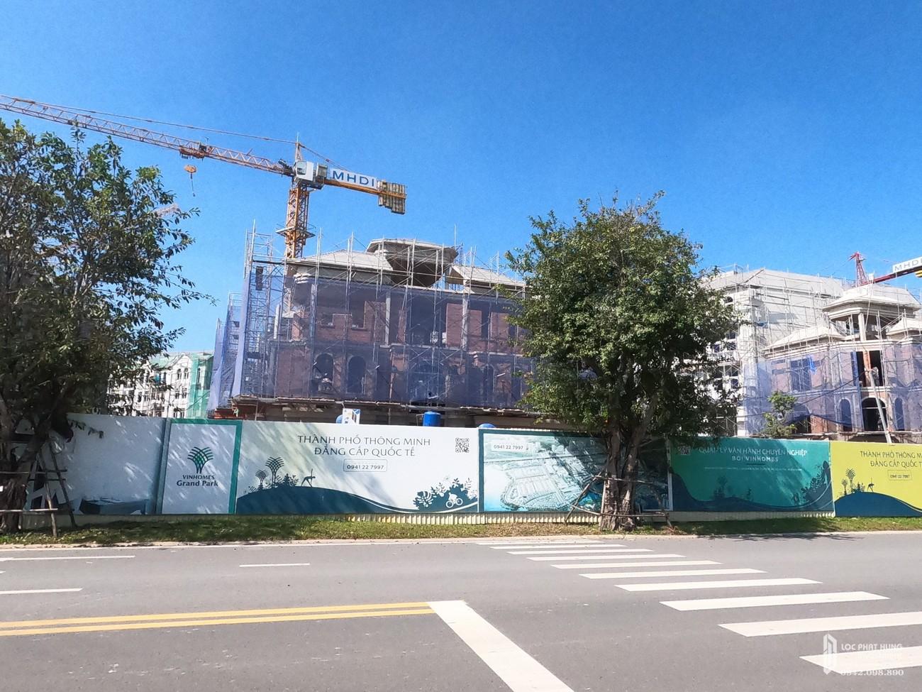 Tiến độ dự án nhà phố The Manhattan Quận 9 Đường Nguyễn Xiển  chủ đầu tư Vingroup