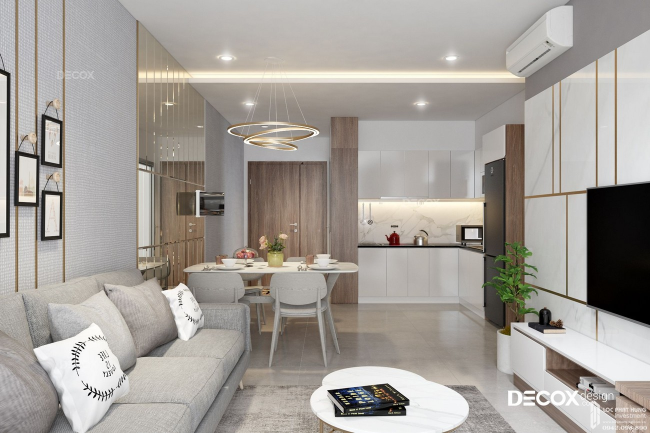 Nhà mẫu dự án căn hộ chung cư The Rivana Thuận An Đường Quốc lộ 13 chủ đầu tư Đạt Phước