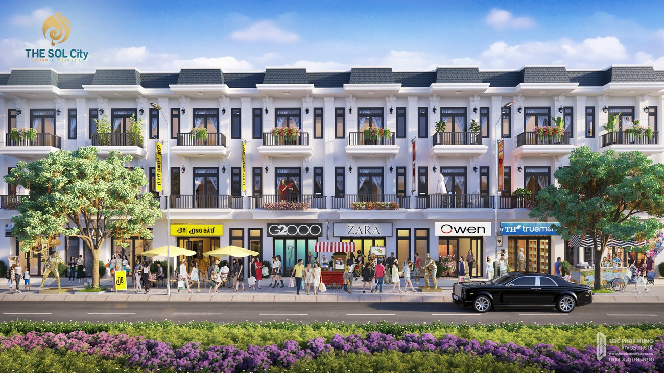 Nhà mẫu dự án đất nền The Sol City Cần Giuộc Đường Hương Lộ 11 chủ đầu tư Thắng Lợi Group