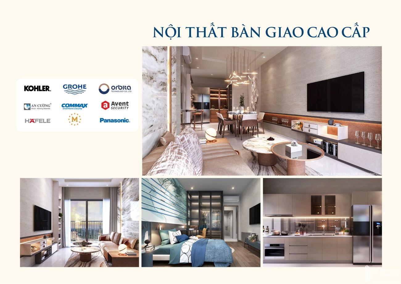 Nội thất dự án căn hộ chung cư Rivana Thuận An Đường Quốc lộ 13 chủ đầu tư Đạt Phước