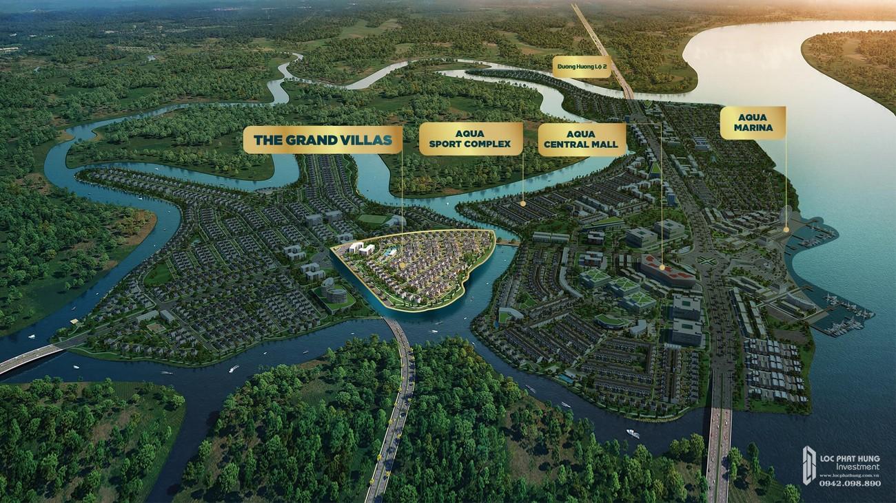 Phối cảnh tổng thể dự án biệt thự Aqua City The Grand Villas Biên Hòa  Đường Long Hưng nhà phát triển Novaland