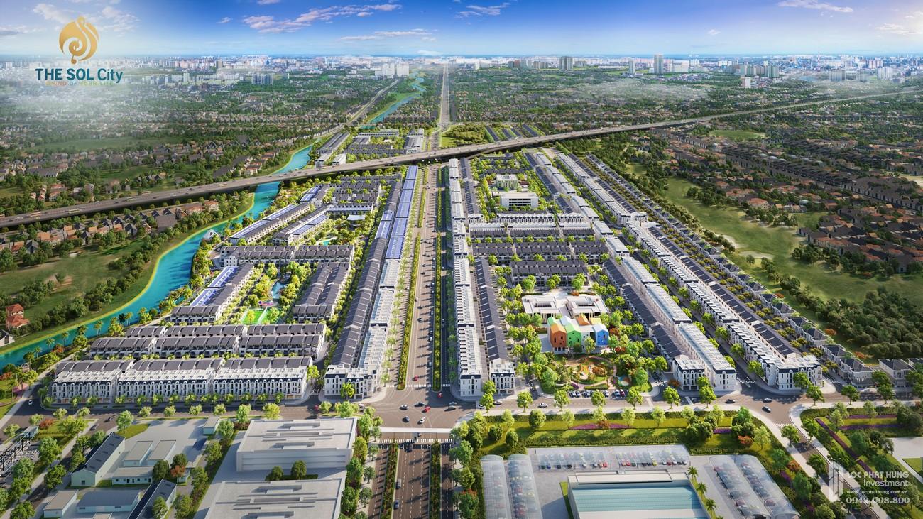 Đại lộ Thắng Lợi xuyên tâm dự án The Sol City