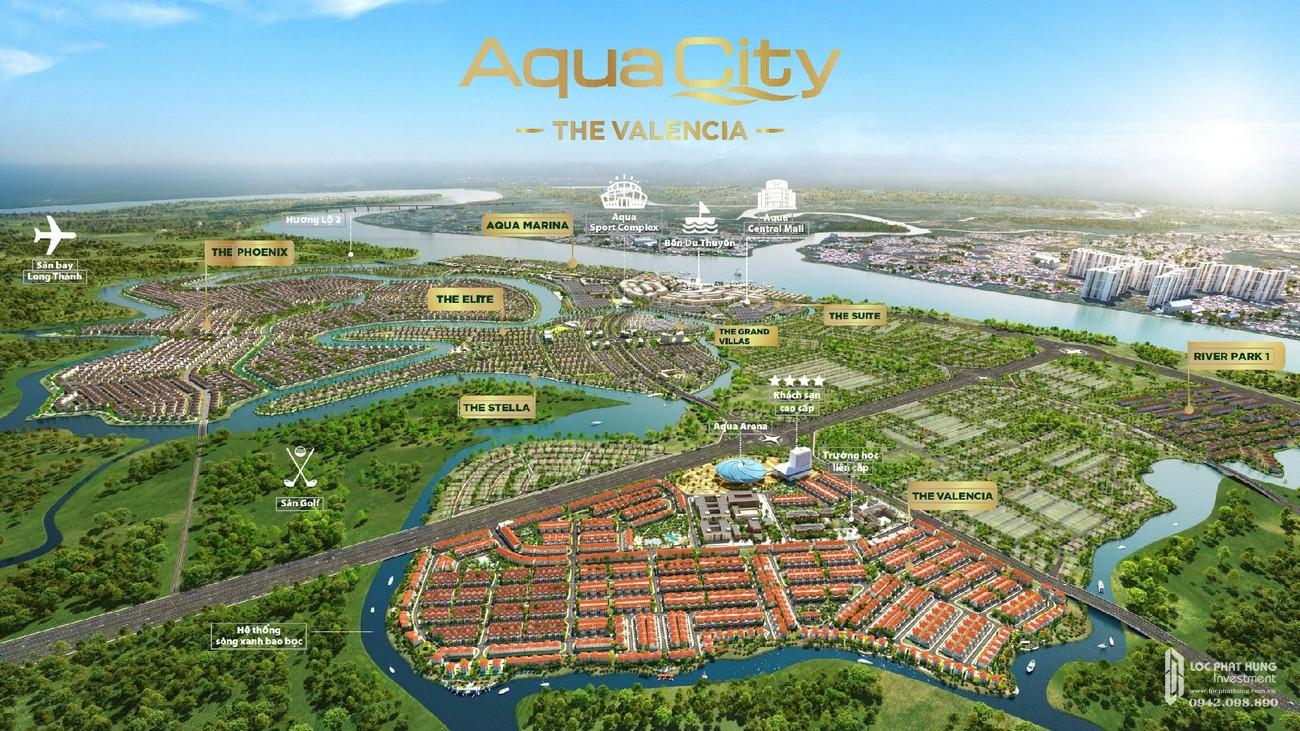 Phối cảnh tổng thể dự án Nhà Phố chung cư Valencia Biên Hòa Đường Quốc lộ 51 chủ đầu tư Novaland
