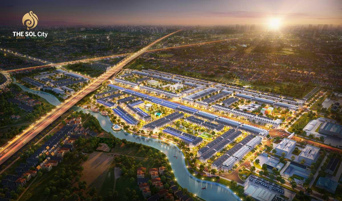 Phối cảnh Dự án The Sol City Nam Sài Gòn chủ đầu tư Thắng Lợi