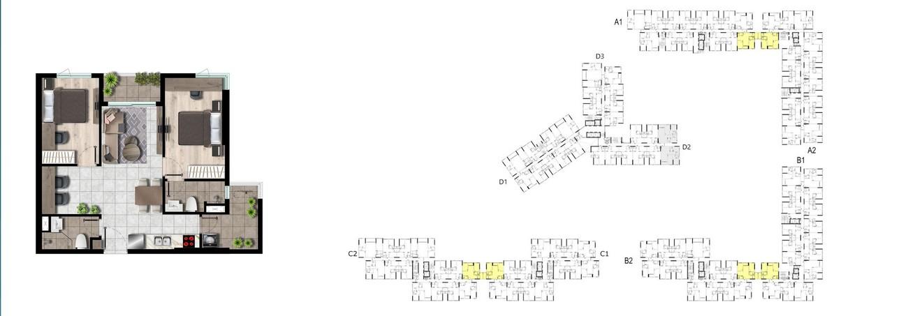Thiết kế chi tiết căn hộ West Gate Bình Chánh