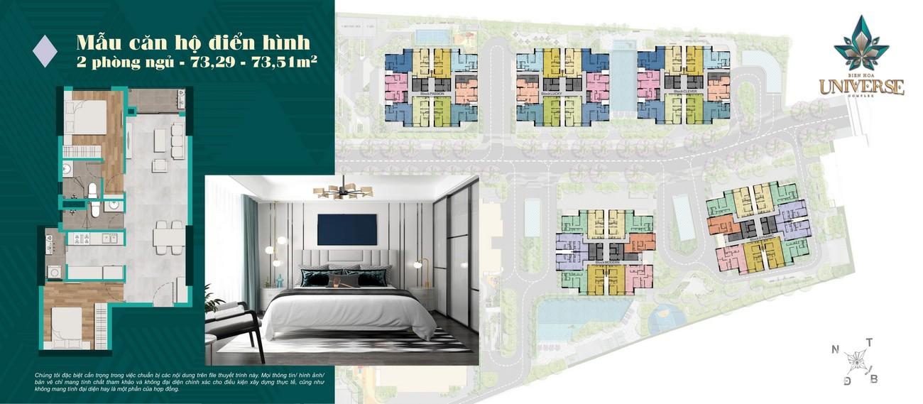 Thiết kế dự án căn hộ chung cư Biên Hoà Universe Complex Đường Xa lộ Hà Nội chủ đầu tư Hưng Thịnh