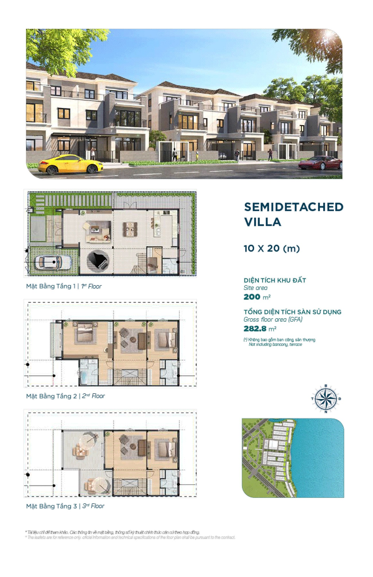 Semidetached villa 10x20m - Dự án Aqua City The Elite