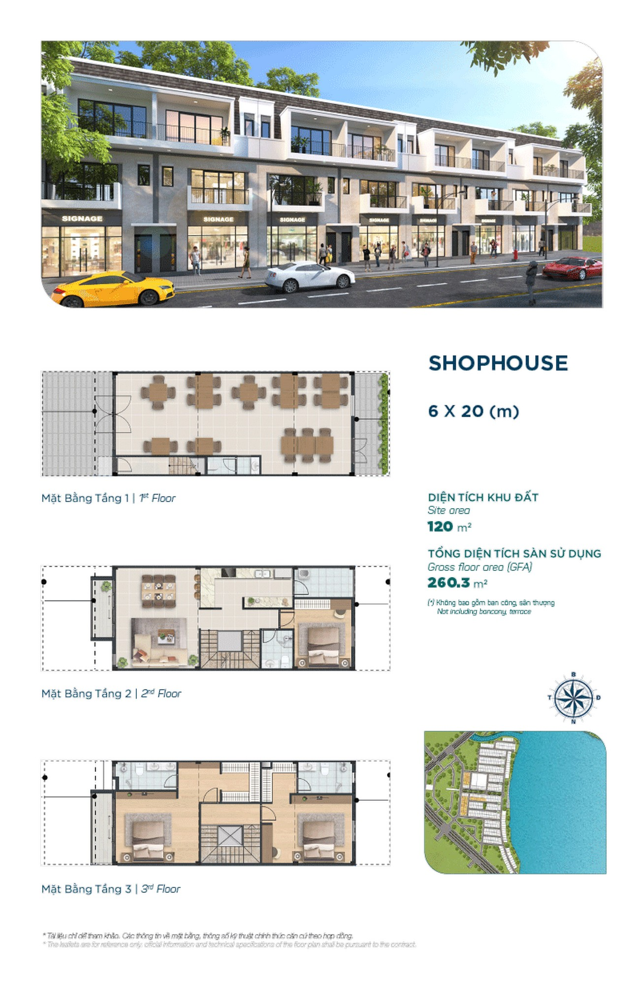 Shophouse The Elite 6x20m - Dự án Aqua City The Elite