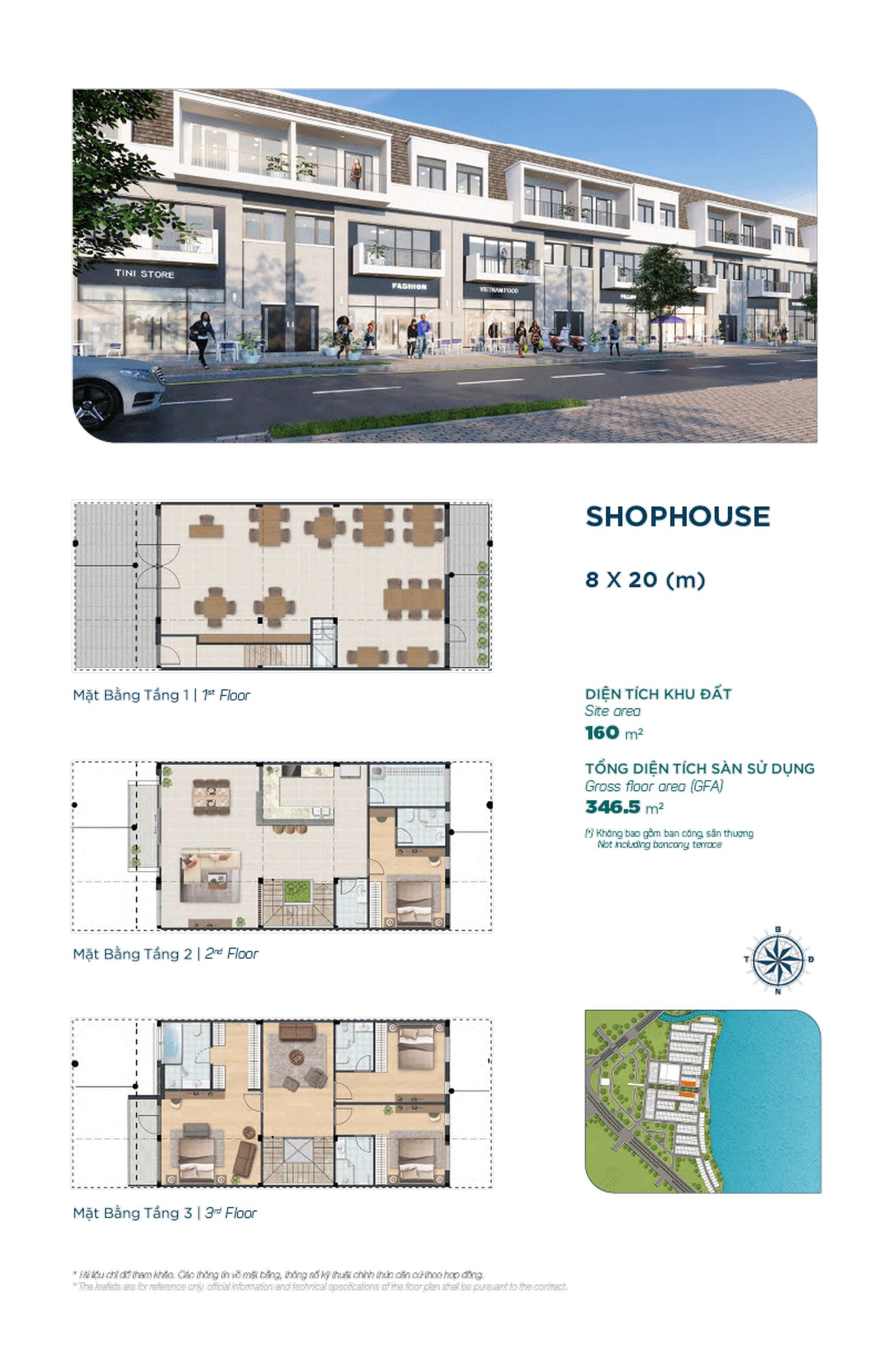 Shophouse The Elite 8x20m - Dự án Aqua City The Elite